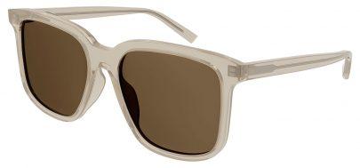 Saint Laurent SL 480 Prescription Sunglasses - Transparent Beige / Green