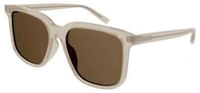 Saint Laurent SL 480 Sunglasses - Transparent Beige / Green