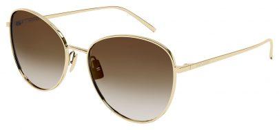 Saint Laurent SL 486 Sunglasses - Gold / Brown Gradient