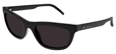 Saint Laurent SL 493 Prescription Sunglasses - Black / Grey