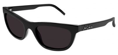 Saint Laurent SL 493 Sunglasses - Black / Grey