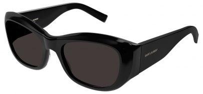 Saint Laurent SL 498 Prescription Sunglasses - Black / Grey