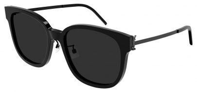 Saint Laurent SL M48S_C/K Prescription Sunglasses - Black / Grey