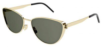 Saint Laurent SL M90 Sunglasses - Gold / Green