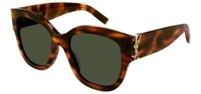 Saint Laurent SL M95/F Prescription Sunglasses - Havana / Green